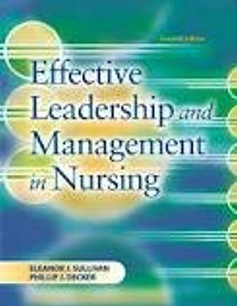 Effective Leadership and Management in Nursing 7TH EDITION Cover