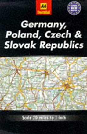 Essential Road Map Germany, Poland, Czech and Slovak Republics (AA Essential European Road Maps) Cover