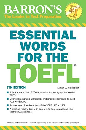Essential Words for the TOEFL Cover