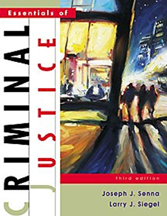 Essentials of Criminal Justice (Non-InfoTrac Version) Cover
