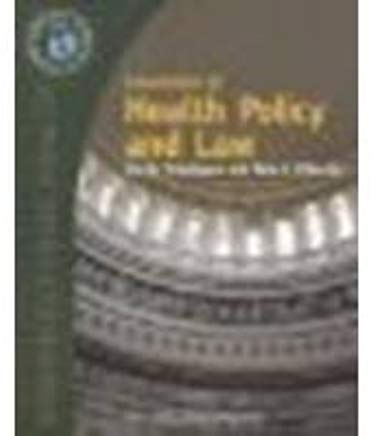 Essentials of Public Health Law and Policy by Joel B. Teitelbaum, Sara E. Wilensky [Jones and Bartlett,2007] [Paperback] Cover