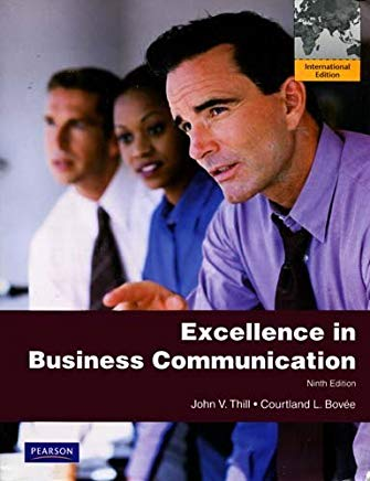 Excellence in Business Communication Cover