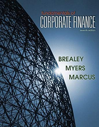Fundamentals of Corporate Finance by Brealey, Richard, Myers, Stewart, Marcus, Alan 7th (seventh) Edition [Hardcover(2011)] Cover