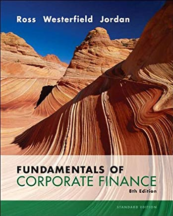 Fundamentals of Corporate Finance (text only) 8th (Eighth) edition by S. Ross,R. Westerfield,B. Jordan Cover