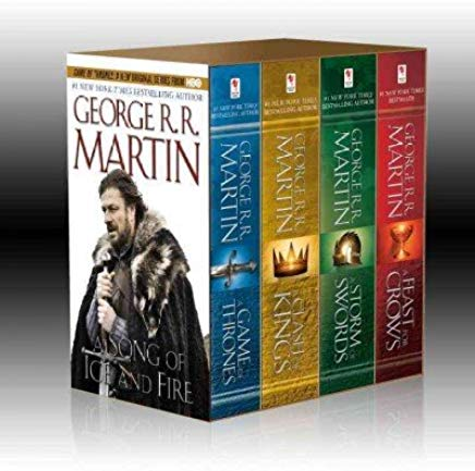 Game of Thrones Boxed Set: A Game of Thrones/A Clash of Kings/A Storm of Swords/A Feast for Crows ( Cover