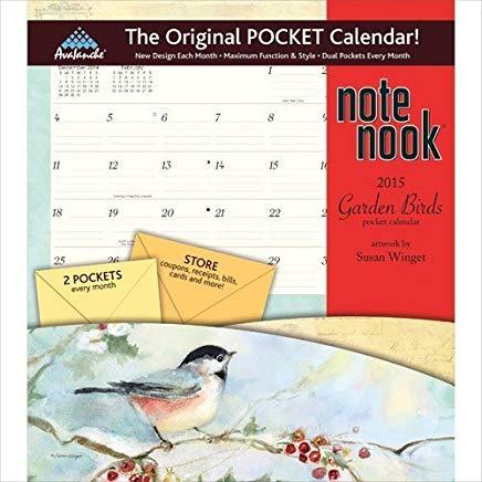 Garden Birds Note Nook 2015 Calendar by Avalanche Pub Cover