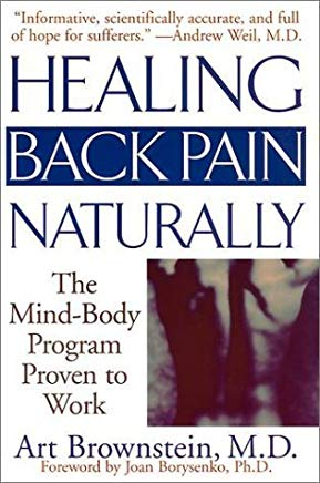 Healing Back Pain Naturally: The Mind-Body Program Proven to Work by Brownstein, Art (2001) Paperback Cover