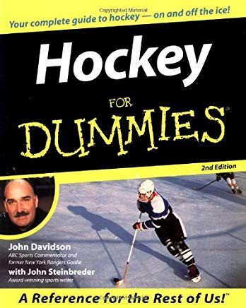 Hockey For Dummies Cover