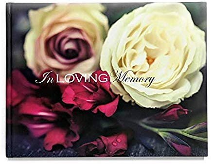In Loving Memory Funeral Guest Book, Memorial Guest Book, Registration Book, Condolence Book, Remembrance Book, Contemporary Matte Finish, Hard Cover Cover