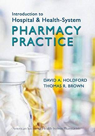 Introduction to Hospital and Health-System Pharmacy Practice Cover