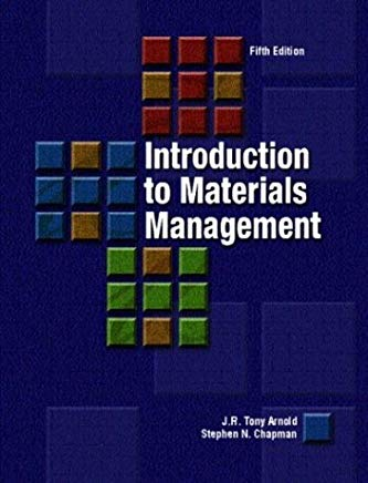 Introduction to Materials Management (5th Edition) Cover