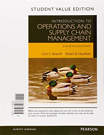 Introduction to Operations and Supply Chain Management, Student Value Edition Cover