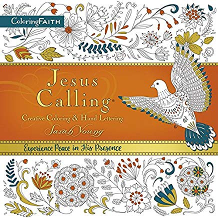 Jesus Calling Adult Coloring Book:  Creative Coloring and   Hand Lettering (Coloring Faith) Cover