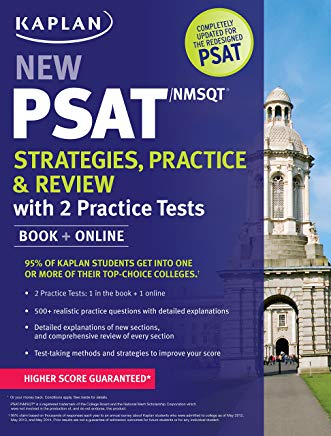 Kaplan New PSAT/NMSQT Strategies, Practice and Review with 2 Practice Tests: Book + Online (Kaplan Test Prep) Cover