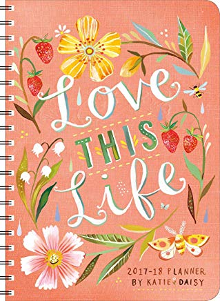 Katie Daisy 2017 – 2018 On-the-Go Weekly Planner: 17-Month Calendar with Pocket Cover