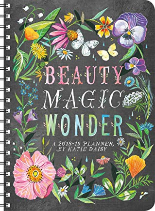 Katie Daisy 2019 On-the-Go Weekly Planner: 17-Month Calendar with Pocket (Aug 2018 - Dec 2019, 5 x 7 closed) Cover