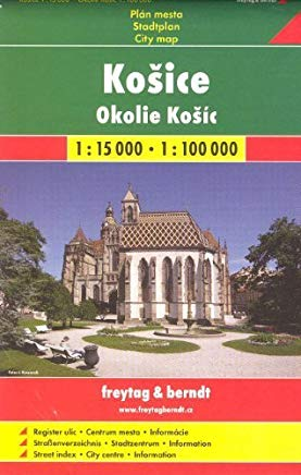Kosice (Slovakia) 1:15,000 Street Map & Surroundings 1:100,000 Hiking Map SC by Shocart (2015-12-20) Cover