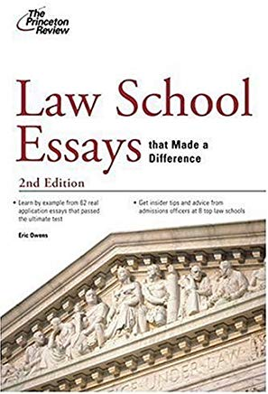 Law School Essays That Made a Difference, 2nd Edition (Graduate School Admissions Guides) Cover