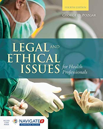 Legal and Ethical Issues for Health Professionals Cover