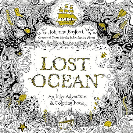 Lost Ocean: An Inky Adventure and Coloring Book for Adults Cover