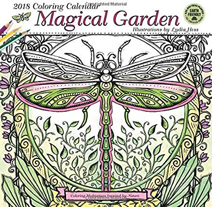 Magical Garden 2018 Coloring Wall Calendar: Coloring Meditations Inspired by Nature Cover