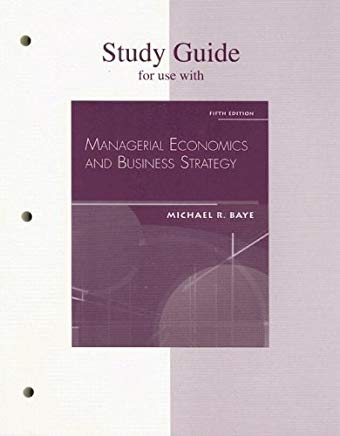 Managerial Economics & Business Strategy, Study Guide Cover