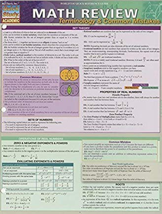 Math Review: Terminology & Common Mistakes by BarCharts, Inc. (2013) Hardcover Cover