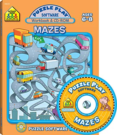 Mazes: Puzzle Play Software, Ages 6-8 Cover