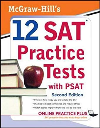 McGraw-Hill's 12 SAT Practice Tests with PSAT Cover