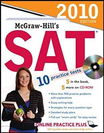 McGraw-Hill's SAT with CD-ROM, 2010 Edition (McGraw-Hill's SAT (W/CD)) Cover