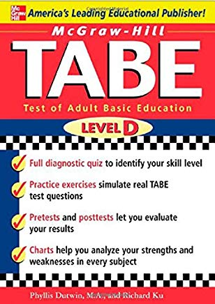 McGraw-Hill's TABE Level D: Test of Adult Basic Education: The First Step to Lifelong Success Cover