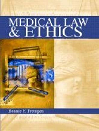 Medical Law & Ethics (02) by Fremgen, Bonnie F - Fremgen, Bonnie [Paperback (2001)] Cover