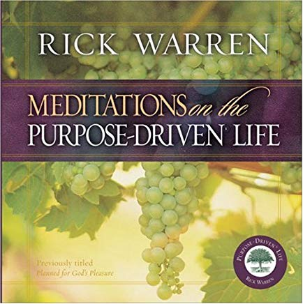 Meditations on the Purpose Driven Life Cover