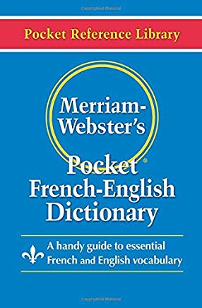 Merriam-Webster's Pocket French-English Dictionary (Pocket Reference Library) (English and French Edition) Cover