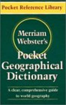 Merriam-Webster's Pocket Geographical Dictionary (Pocket Reference Library) Cover