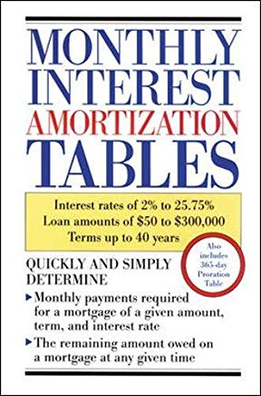 Monthly Interest Amortization Tables Cover