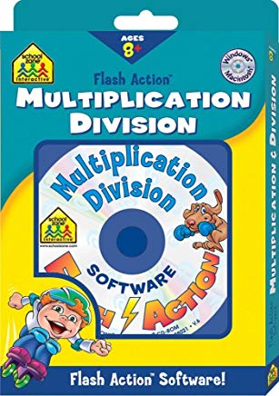 Multiplication Division: Windows Macintosh : Ages 8-Up (School Zone Interactive Flash Action Software) Cover