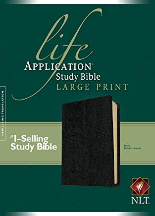 NLT Life Application Study Bible, Second Edition, Large Print (Red Letter, Bonded Leather, Black) Cover