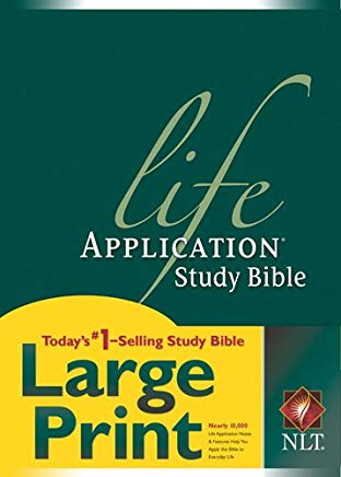 NLT Life Application Study Bible, Second Edition, Large Print (Red Letter, Hardcover) Cover