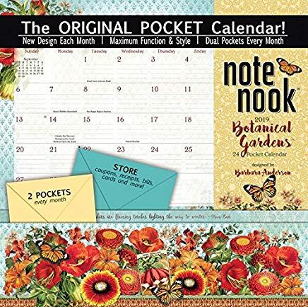 Note Nook Botanical Gardens 2019 Pocket Calendar Cover