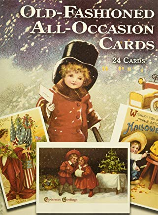 Old-Fashioned All-Occasion Cards: 24 Cards (Dover Postcards) Cover