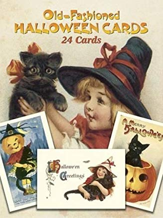 Old-Fashioned Halloween Cards: 24 Cards (Dover Postcards) Cover