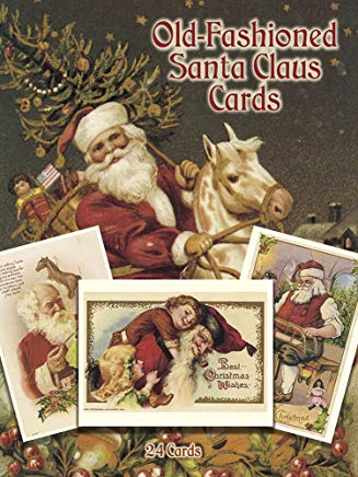 Old-Fashioned Santa Claus Cards: 24 Cards (Dover Postcards) Cover