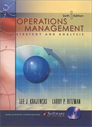 Operations Management: Strategy and Analysis: 6th (Sixth) Edition Cover