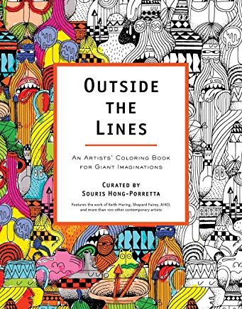 Outside the Lines: An Artists' Coloring Book for Giant Imaginations Cover