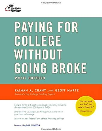 Paying for College Without Going Broke, 2010 Edition (College Admissions Guides) Cover