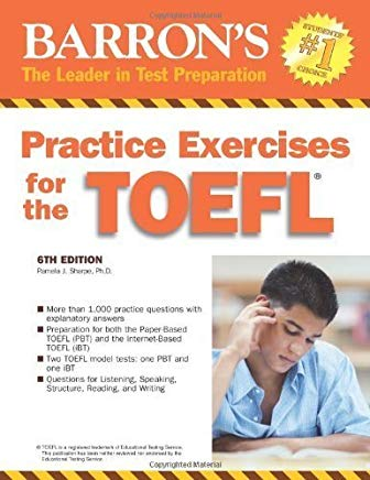 Practice Exercises for the TOEFL (Barron's Practice Exercises for the Toefl) by Pamela J. Sharpe Ph.D. (2007-07-01) Cover