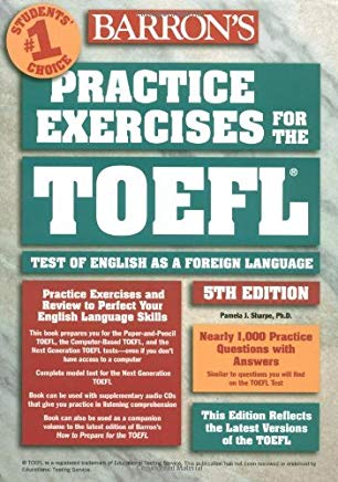 Practice Exercises for the TOEFL (Barron's Practice Exercises for the Toefl) by Pamela Sharpe Ph.D. (2003-09-01) Cover