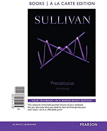 Precalculus, Books a la Carte Edition (10th Edition) Cover