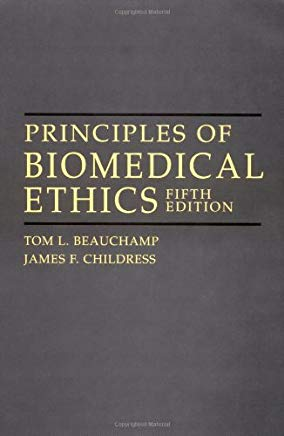 Principles of Biomedical Ethics, 5th edition Cover